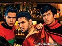Nick Kunatip Pinpradub, Net Siraphop Manithikhun, Tose Aukkarat Jittasiri для KAZZ April 2017