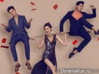 Lin Chiling, Aaron Kwok, Chen Kun Concept Photos cover Harper's Bazaar