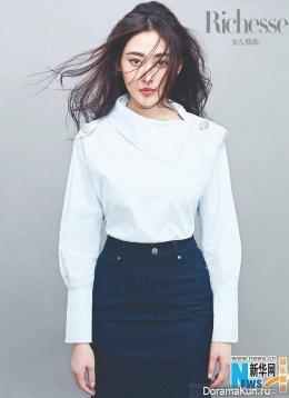 Zhang Tian Ai для Figaro Richesse March 2017