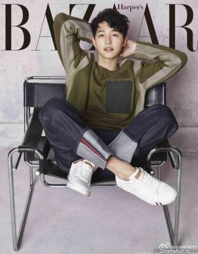 Song Joong Ki для Harper's Bazaar April 2017