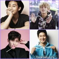 Park Seo Joon/ V /Park Hyung Sik/ Choi Woo Shik/ Peakboy