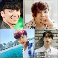 Seungri/Junho/Chansung/Lee Hong Ki