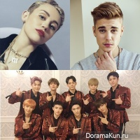 EXO Miley Cyrus Justin Bieber