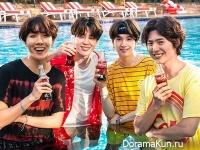 BTS и Park Bo Gum для Coca Cola