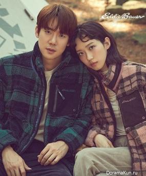 Yoo Yeon Seok, Han Ji Hyun для Eddie Bauer