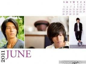 Yamashita Tomohisa (News) для Callendar 2011