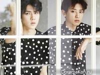 EXO (Sehun, Chanyeol) для CeCi August 2015