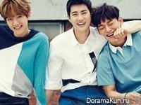 Baekhyun, Suho, Chen (EXO) для @Star1 August 2015 Extra