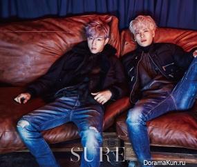 GOT7 (Mark, Jackson) для SURE December 2015