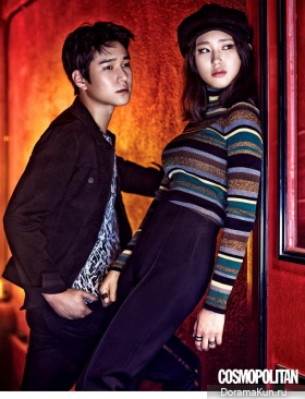 Go Kyung Pyo, Ryu Hye Young для Cosmopolitan September 2015 Extra 2