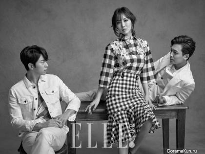 Jung Kyung Ho, Kim So Yeon, Yoon Hyun Min для Elle April 2015 Extra