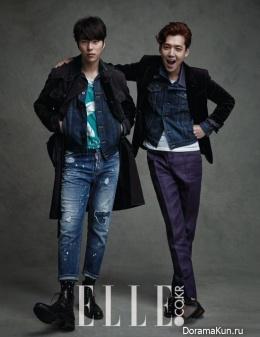 Jung Kyung Ho, Kim So Yeon, Yoon Hyun Min для Elle April 2015