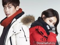 Lee Jong Suk, Kang Min Kyung (Davichi) для Guess F/W 2014 Extra
