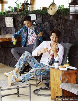 Lee Soo Hyuk, Kim Young Kwang для Marie Claire April 2015