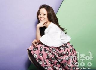 Moon Chae Won для Lady Joongang February 2015