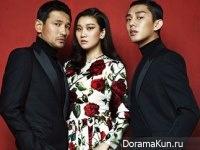Hwang Jung Min, Yoo Ah In, Jang Yoon Joo для Harper's Bazaar August 2015