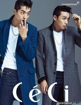 Nam Joo Hyuk, Oh Sang Jin для CeCi October 2014