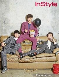 Roy Kim, Jung Joon Young, Park Bo Ram, Hong Dae Kwang для InStyle 2015