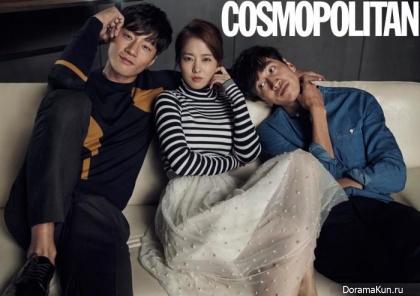 Park Bo Young, Lee Kwang Soo, Lee Chun Hee для Cosmopolitan November 2015
