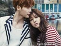 Lee Jong Suk, Park Shin Hye для InStyle April 2015
