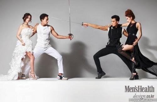 Rainbow (Jaekyung, Woori) для Men's Health August 2014