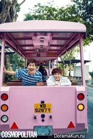 Super Junior (Leeteuk), SHINee (Onew) для Cosmopolitan February 2015