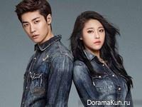AOA (Seolhyun), N.Flying (Seunghyub) для Buckaroo Jeans 2015 CF