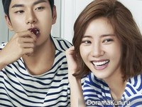 Son Dam Bi, Lee Yi Kyung для Cosmopolitan August 2015