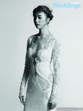 Uhm Hyun Kyung для InStyle Weddings July 2015
