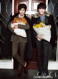 Lee Jong Suk, Kwanghee (ZE:A) для CeCi December 2012