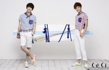 ZE:A (Siwan, Dongjun) для CeCi June 2013