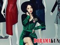Davichi's Kang Min Kyung для InStyle September 2012
