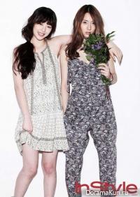 Go Jun Hee, Bae Doo Na, Sulli & Krystal (f(x)) для InStyle 2012