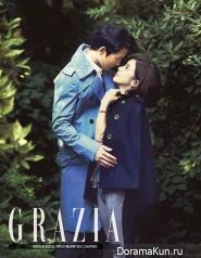 Ji Sung, Lee Bo Young для GRAZIA October 2013 Extra 2