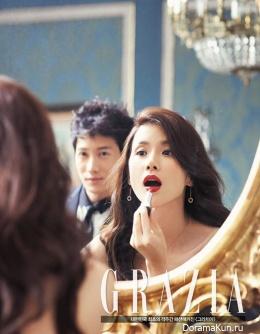 Ji Sung, Lee Bo Young для GRAZIA October 2013 Extra