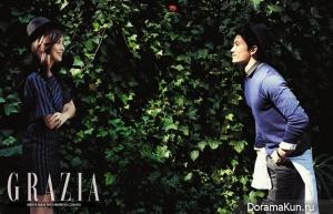 Ji Sung, Lee Bo Young для GRAZIA October 2013