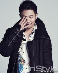 Jin Goo для InStyle January 2013