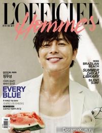 Jung Woo Sung для L'Officiel Hommes Korea July 2013