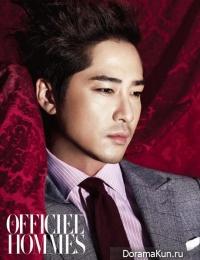Kang Ji Hwan для L'Officiel Hommes Korea September 2011