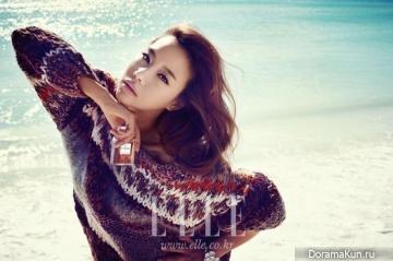 Kim Ah Joong для Elle December 2012