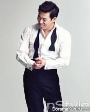 Kim Gyu Ri, Park Ji Woo для InStyle February 2013