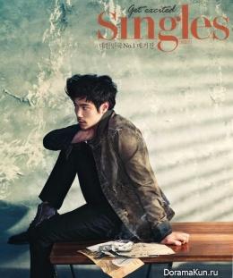 Kim Kang Woo для Singles March 2013
