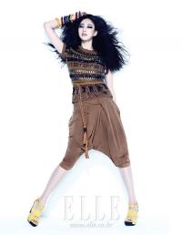 Kim Sa Rang для Elle Korea 2011