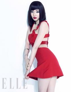 Kim Sa Rang для Elle Korea April 2011
