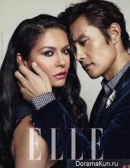 Lee Byung Hun, Catherine Zeta Jones для Elle August 2013