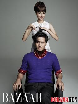 Jung Yumi, Lee Jin Wook для Harper's Bazaar 2012