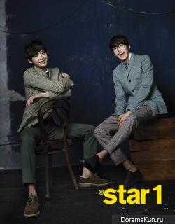 Lee Jong Suk, Kim Woo Bin для @Star1 March 2013