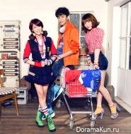 Lee Min Ki, Kang Ji Young, Han Seung Yeon для UNIONBAY 2012
