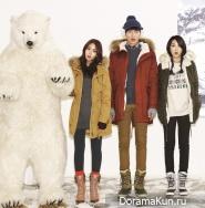 Lee Min Ki и др. для UNIONBAY Winter 2012 Ads
