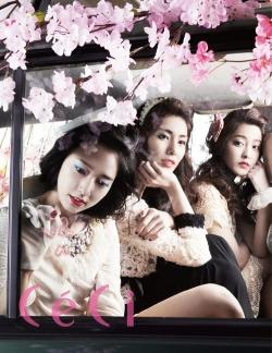 Park Shin Hye, Park Se Young, Kim Jung Hwa для CéCi May 2012